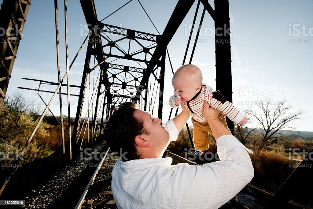 Baby and Dad royalty-free stock photo