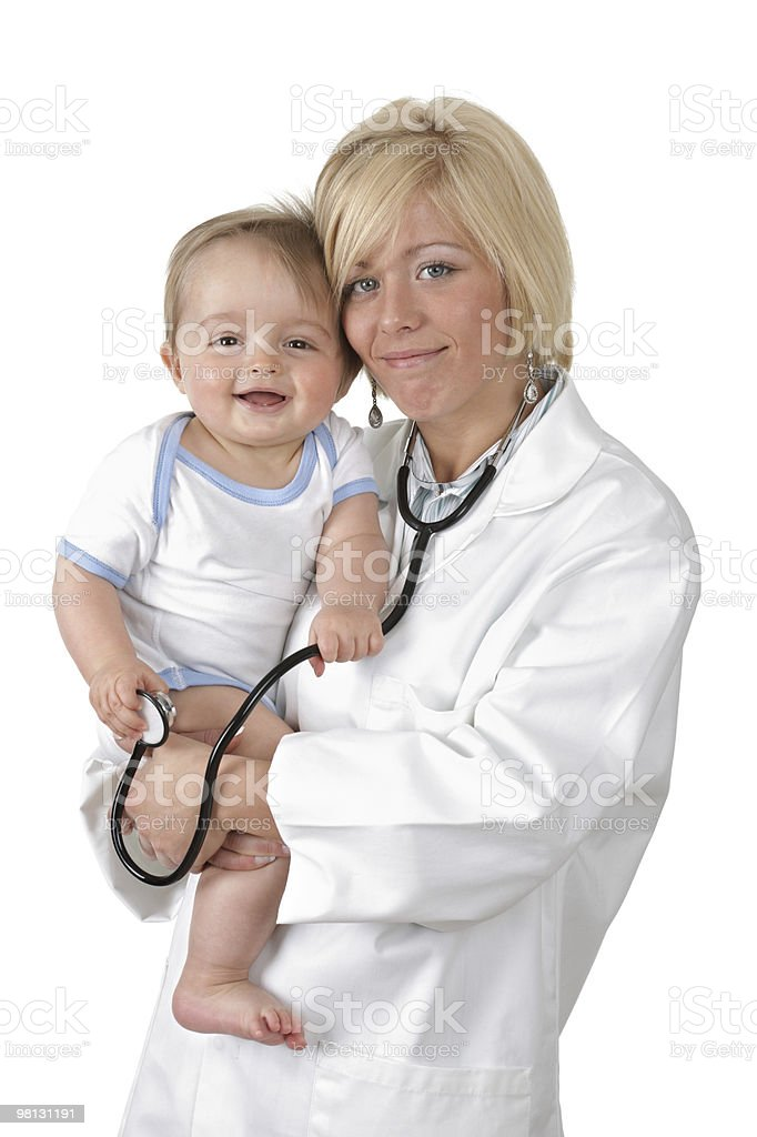Baby and doctor royalty-free stock photo