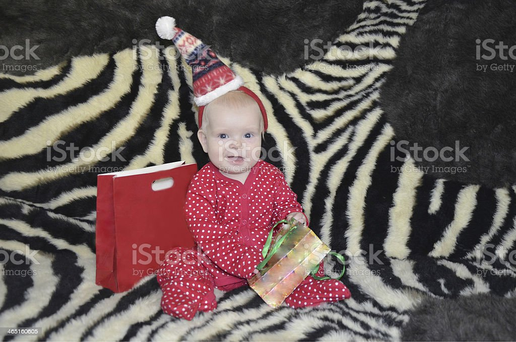 Baby and gifts stock photo