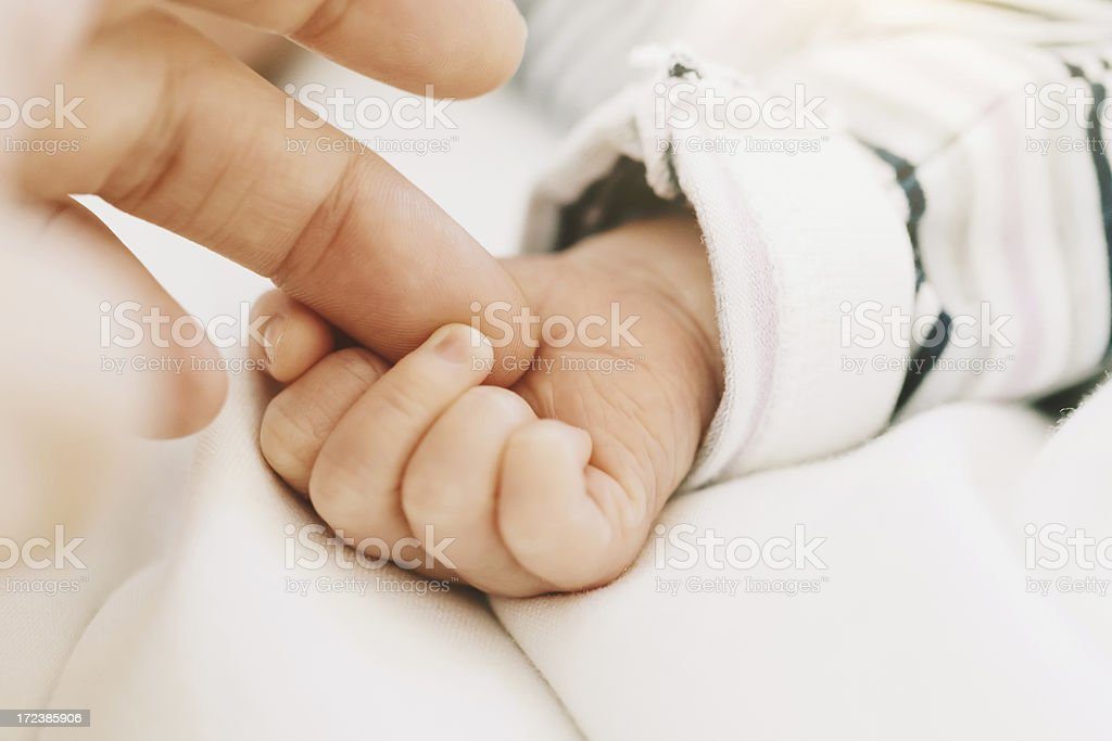 Baby and Mother Hands royalty-free stock photo