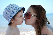 istock Baby and Mother in Beach 470160973