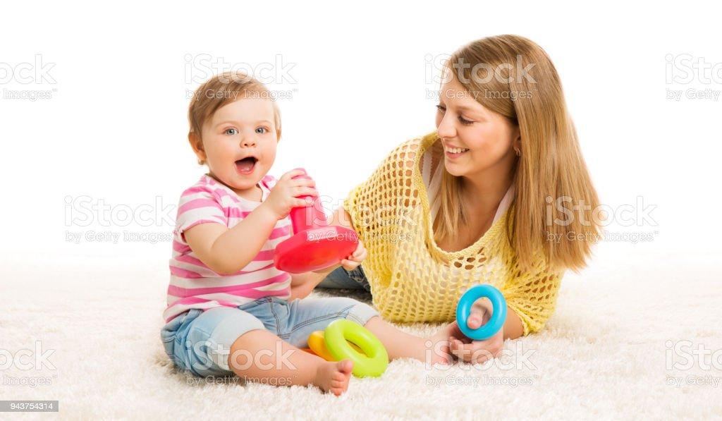 Baby En Moeder Spelen Speelgoed Ringen Baby Jongen Spelen Bouwstenen