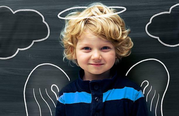 baby engel - engel zeichnen stock-fotos und bilder