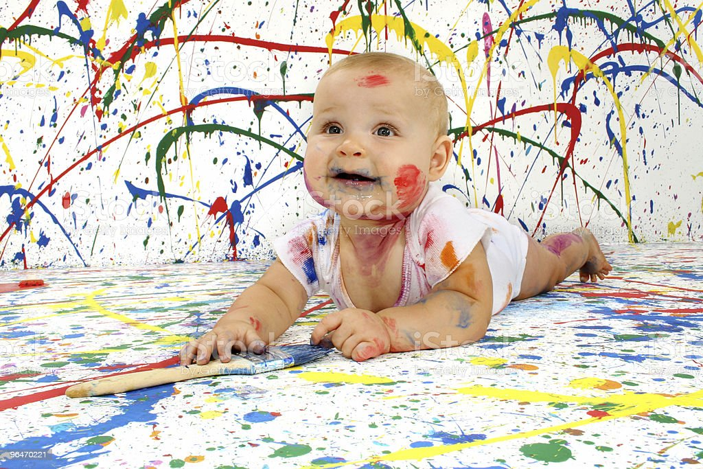 Baby Artist royalty-free stock photo