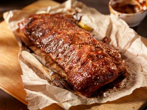 BBQ Baby Back Pork Ribs in Butcher Paper