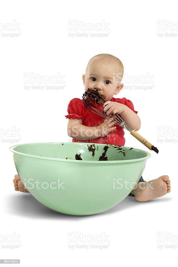 Baby Baking royalty-free stock photo