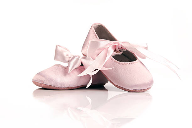 Baby Ballet Shoes stock photo
