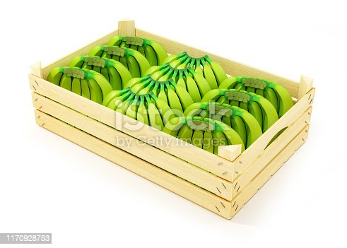 istock Baby bananas in a wooden box 1170928753