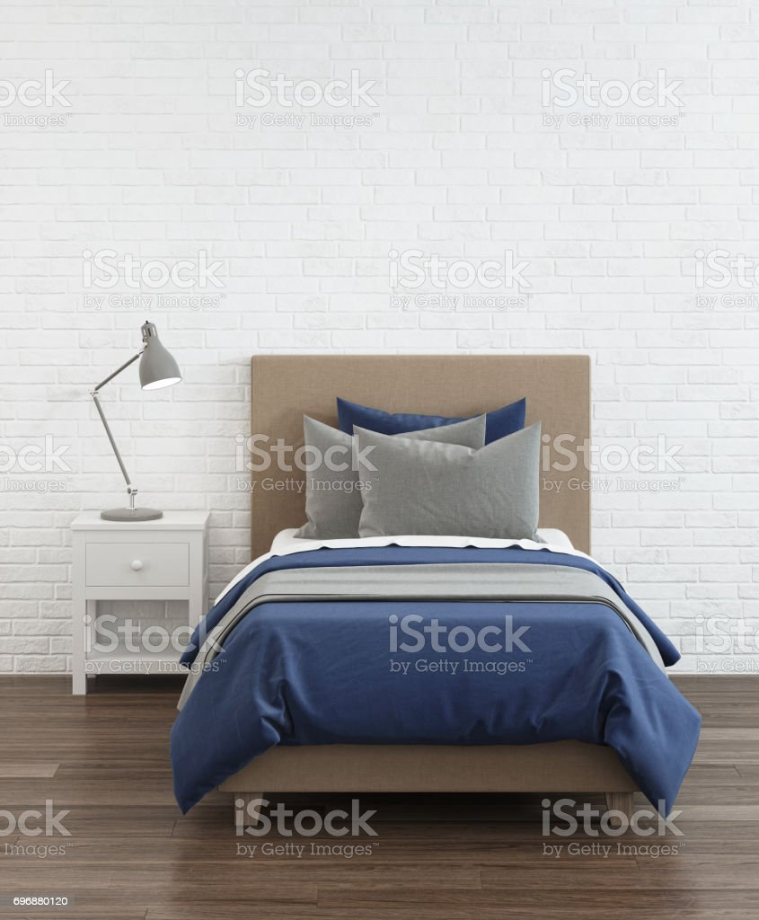 Baby bed. 3D rendering. stock photo