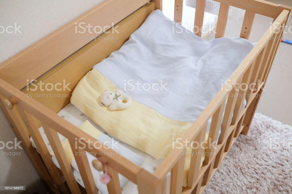 赤ちゃんベッド ストックフォト