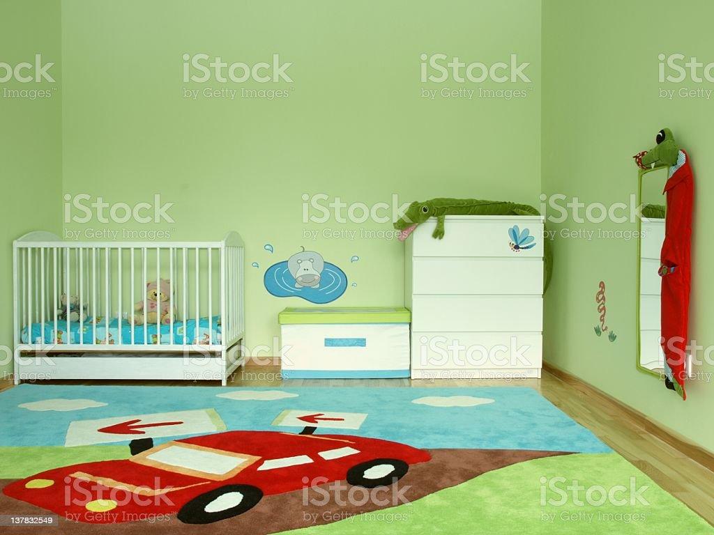 Baby bedroom stock photo