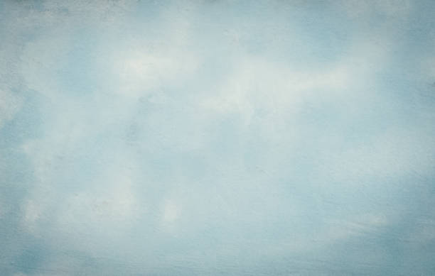Baby blue hand painted backdrop Watercolor Painting, Wallpaper - Decor, Muslin, Art Product, Canvas clouds photos stock pictures, royalty-free photos & images