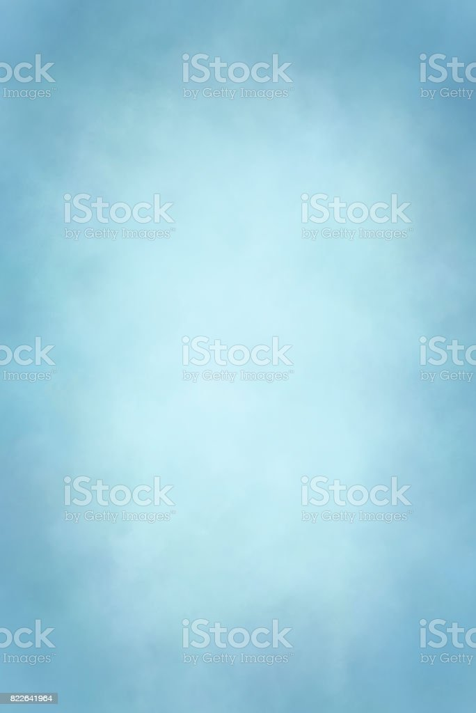Baby blue hand painted backdrop stock photo
