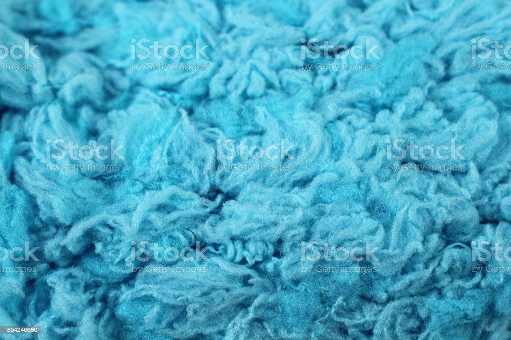 Baby Blue Yarn Texture Close Up stock photo