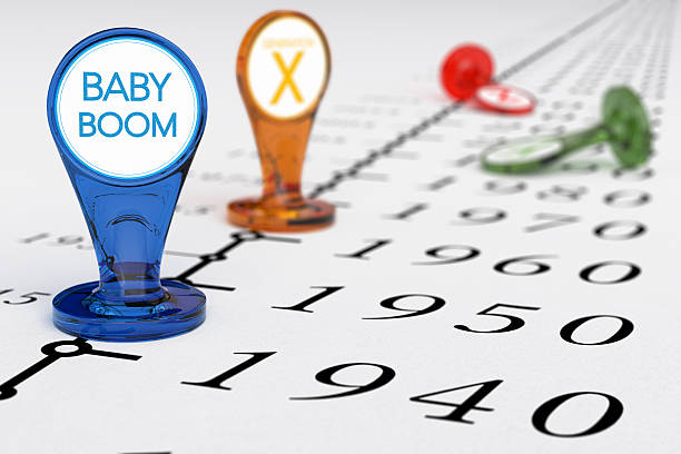 baby boom generation - baby boomers stock pictures, royalty-free photos & images