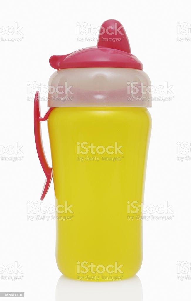 Baby bottle for drinks stock photo