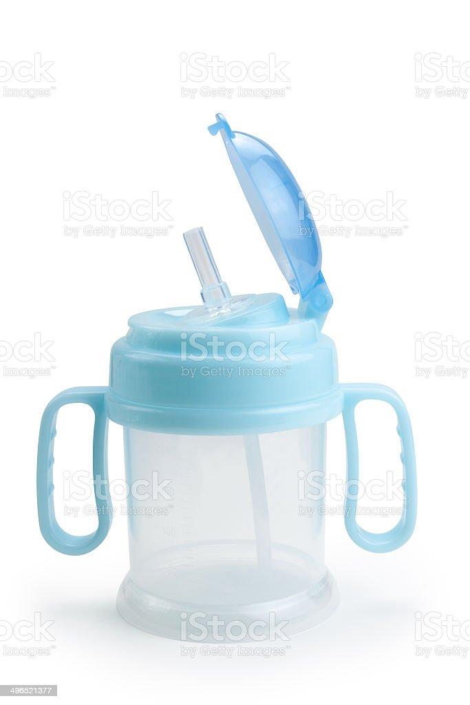 Baby bottle stock photo