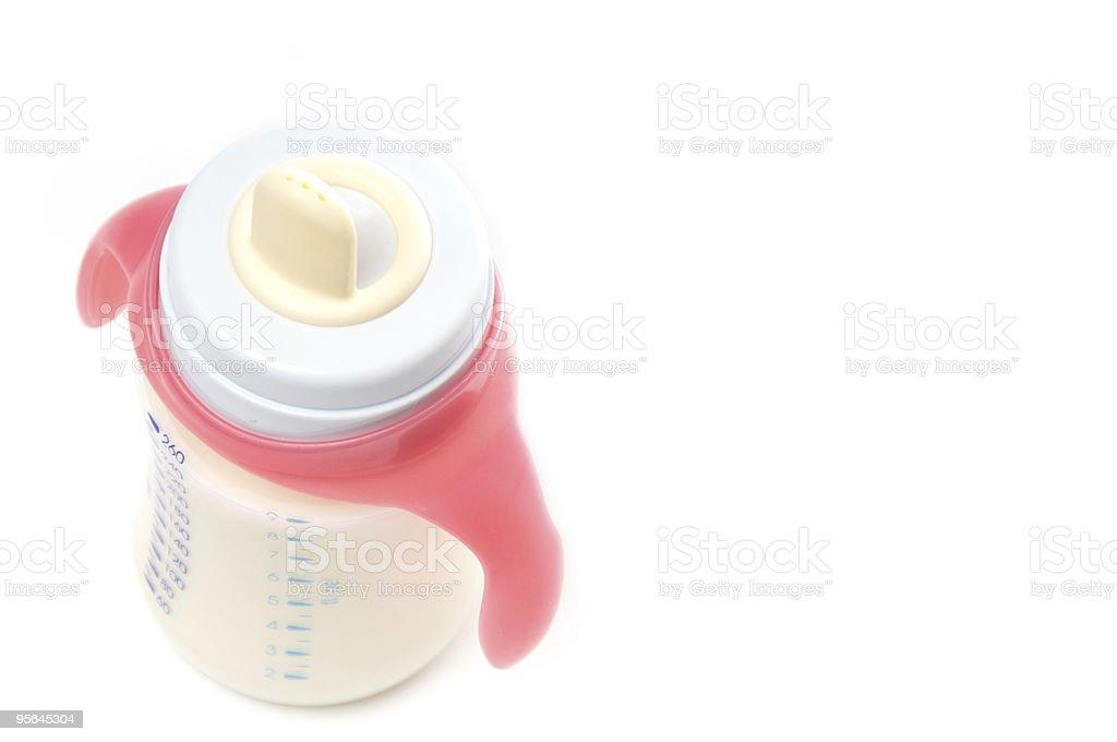 Baby bottle with milk stock photo