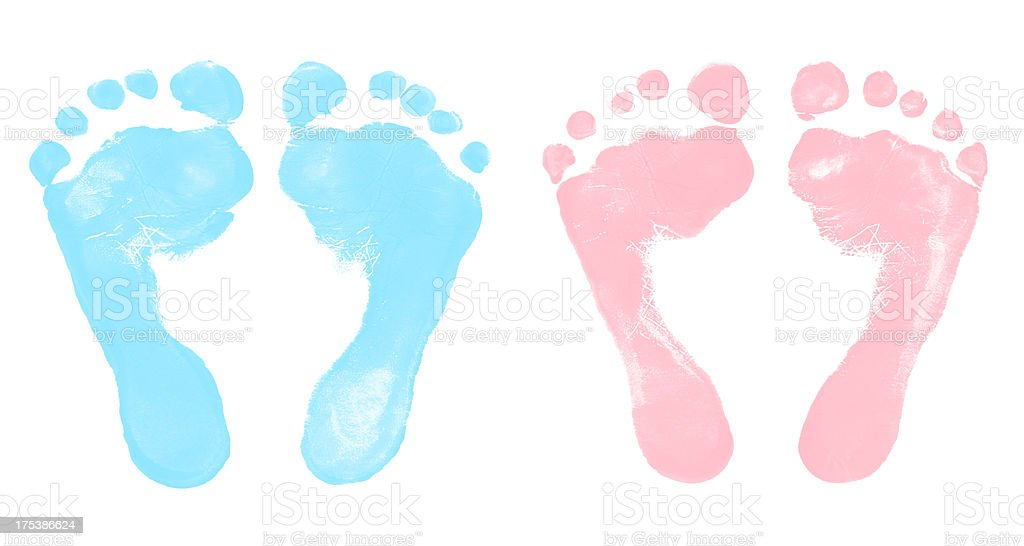 baby boy and girl footprints stock photo more pictures of 2 5