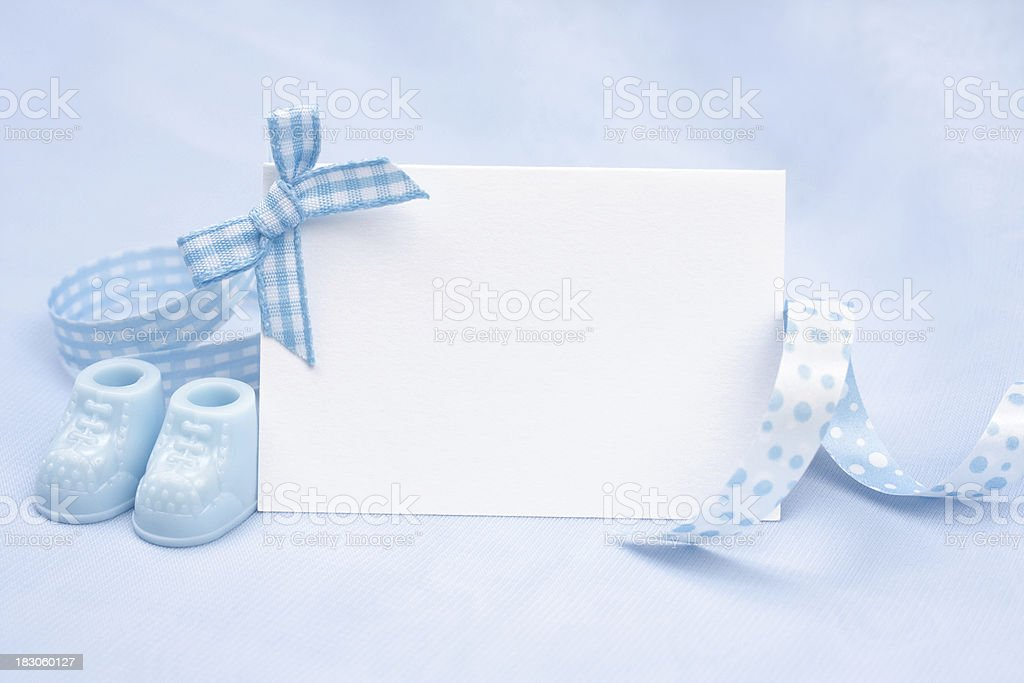 Baby Boy Announcement royalty-free stock photo