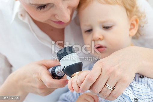 istock Baby Boy at Dermatologist for Mole Check-up 937117200