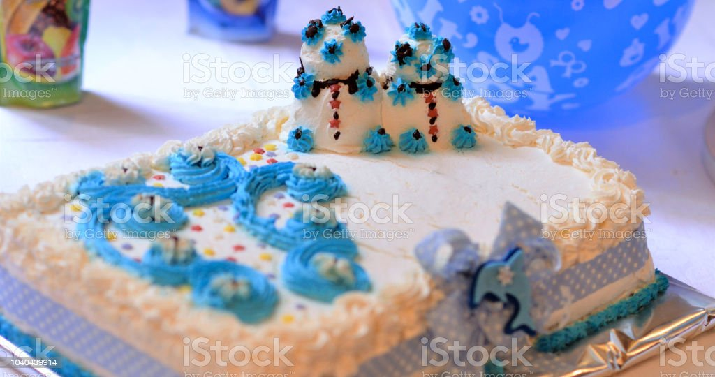Terrific Baby Boy Birthday Cake Image Of A Stock Photo Download Image Now Funny Birthday Cards Online Alyptdamsfinfo