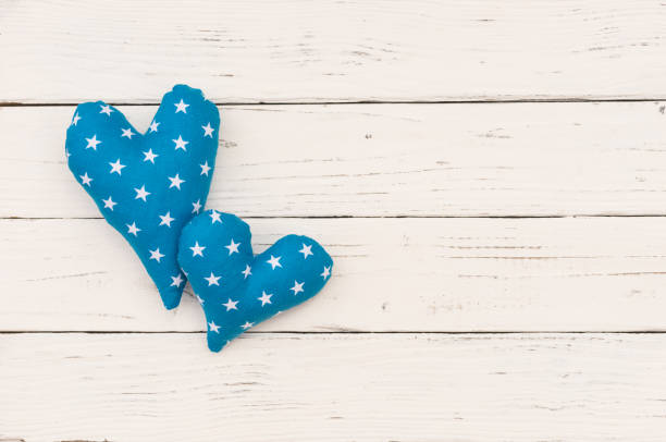 baby boy geburtstag grußkarte mit blauen herzen - taufe texte stock-fotos und bilder