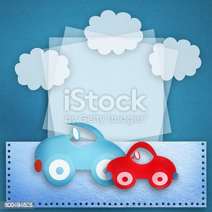 istock Baby boy card. 500494525