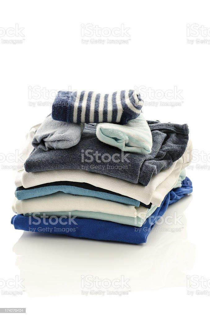 Baby boy clothing royalty-free stock photo