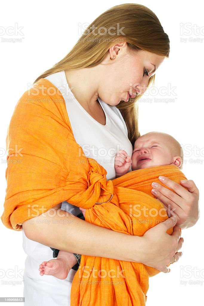 baby boy crying royalty-free stock photo