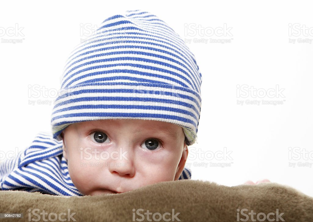 Baby boy face royalty-free stock photo