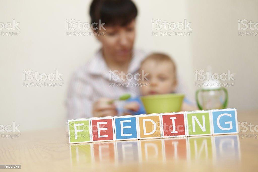 Baby boy. Feeding. General concept. royalty-free stock photo
