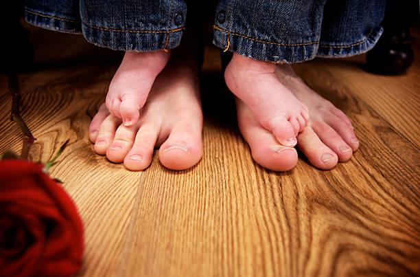 baby boy feet portraits stock photo