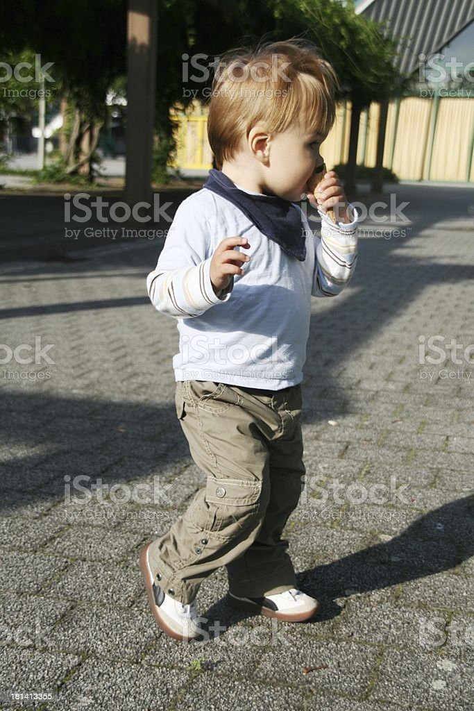 baby boy in action stock photo