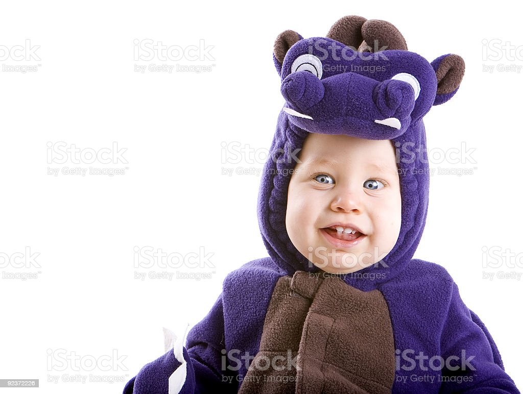 Baby boy in costume royalty-free stock photo