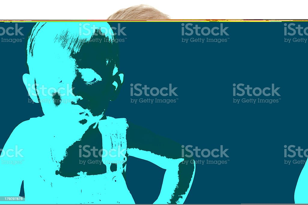 Baby Boy in Overalls royalty-free stock photo