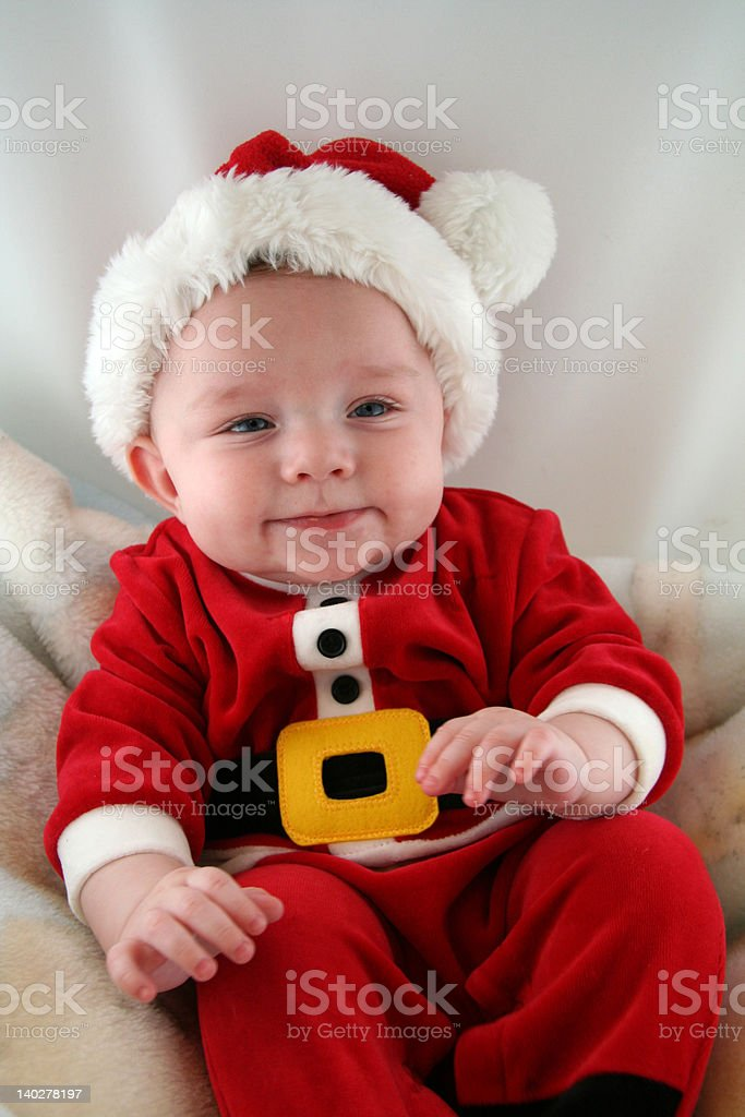 Baby Boy in Santa Claus Outfit royalty-free stock photo