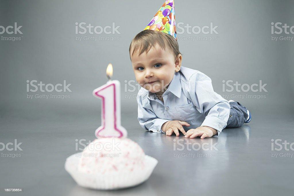 Baby boy in studio royalty-free stock photo