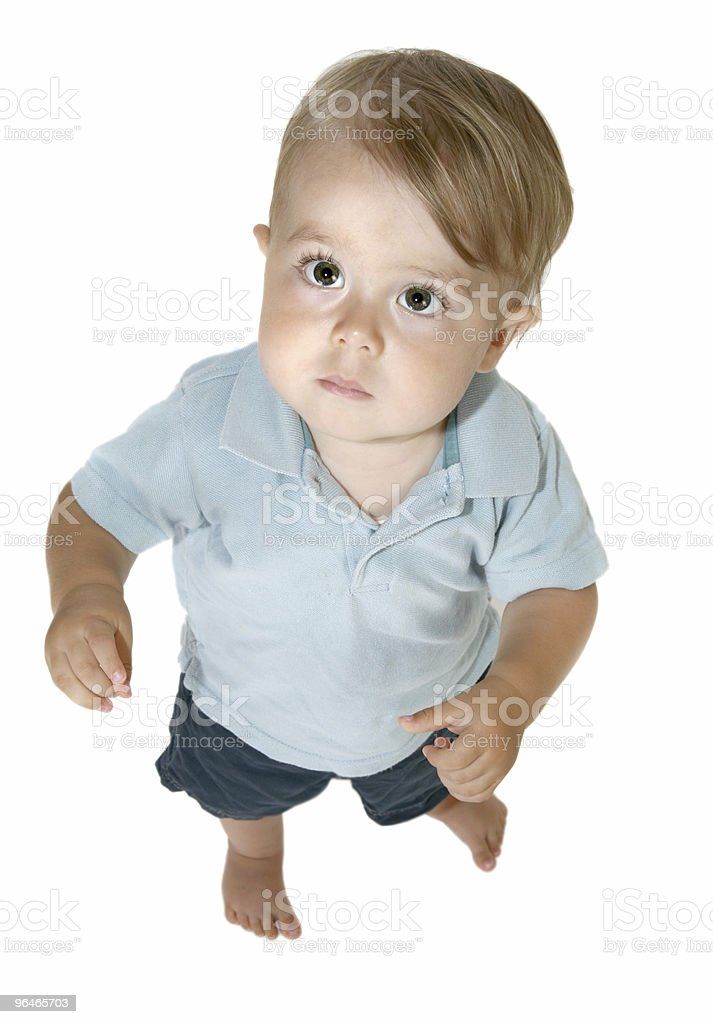 Baby boy Looking Up royalty-free stock photo