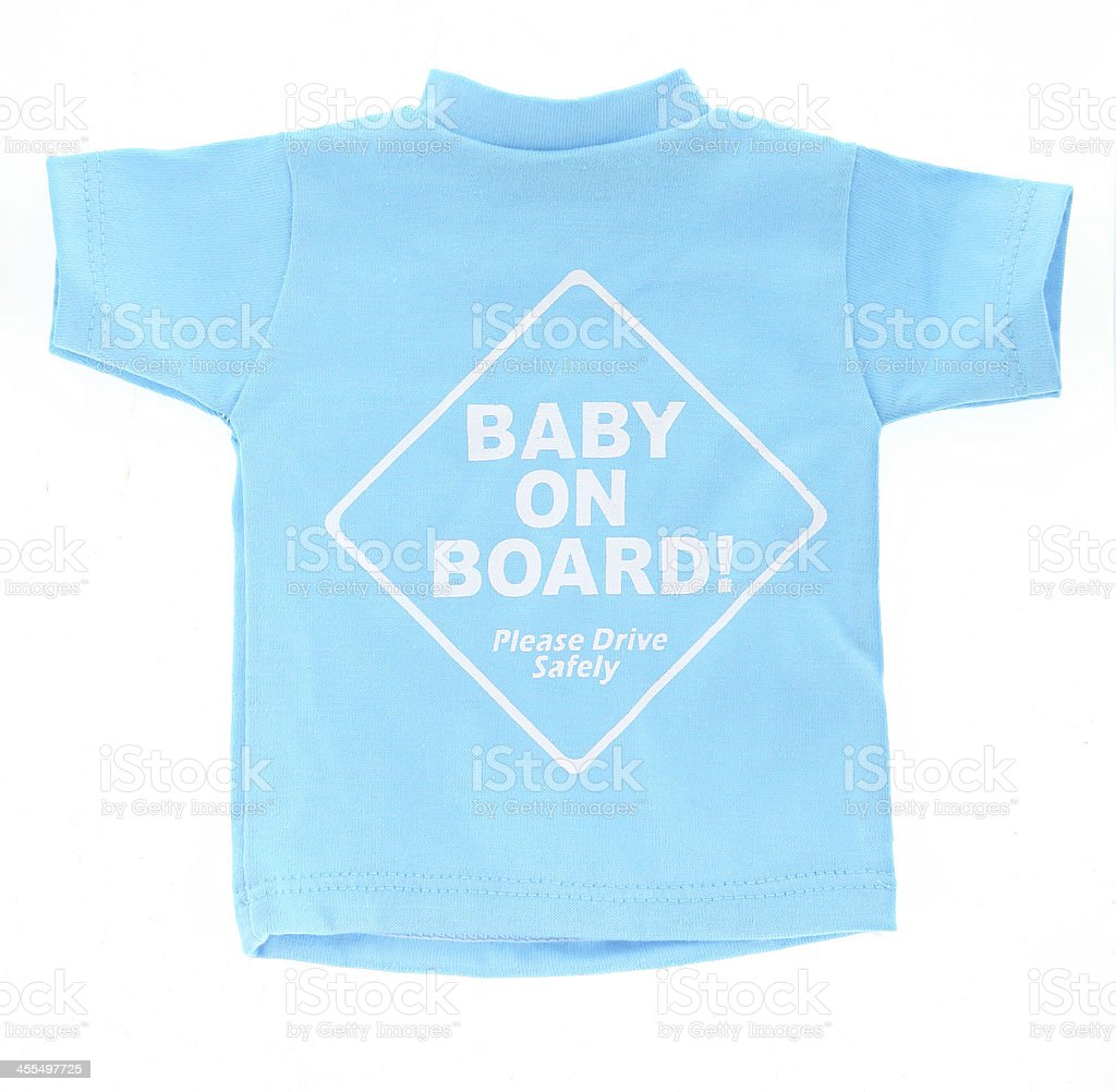 Baby Boy On Board stock photo