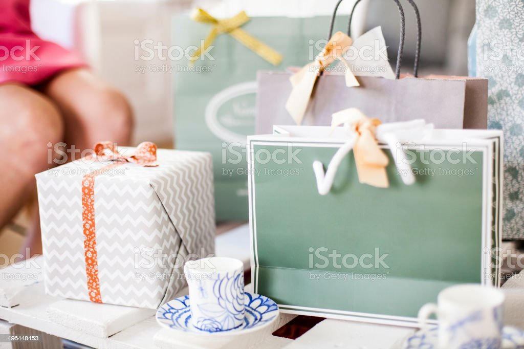 baby boy party stock photo