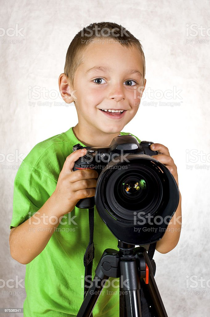 Baby boy photographer royalty-free stock photo
