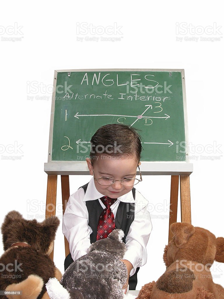 Baby Boy Playing Teacher royalty-free stock photo