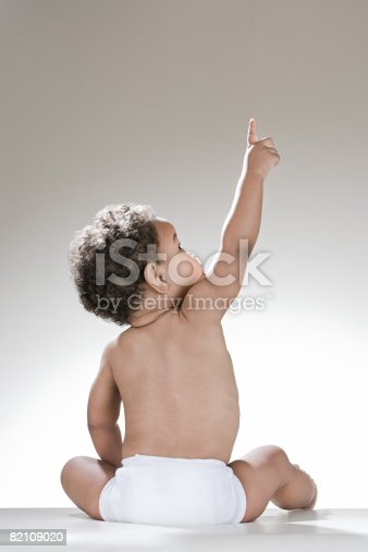 istock A baby boy pointing 82109020