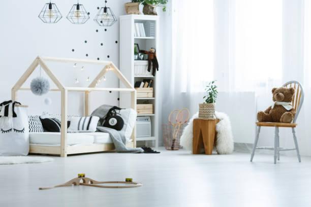 Baby boy room stock photo