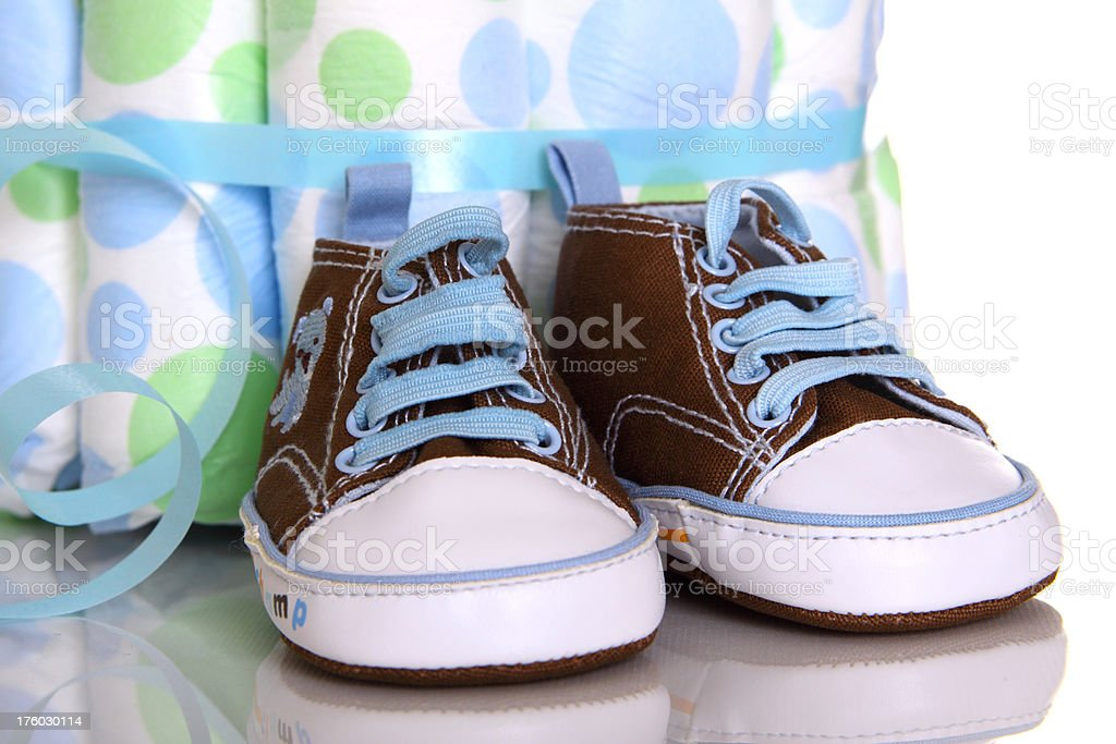 Baby Boy Shoes royalty-free stock photo