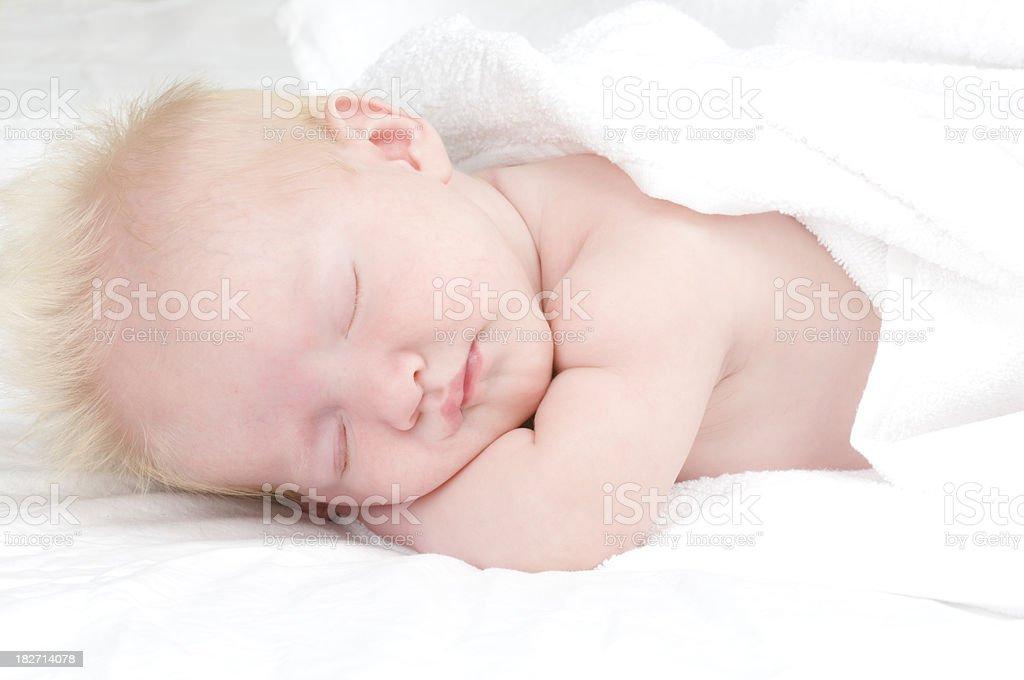 Baby Boy Sleeping royalty-free stock photo