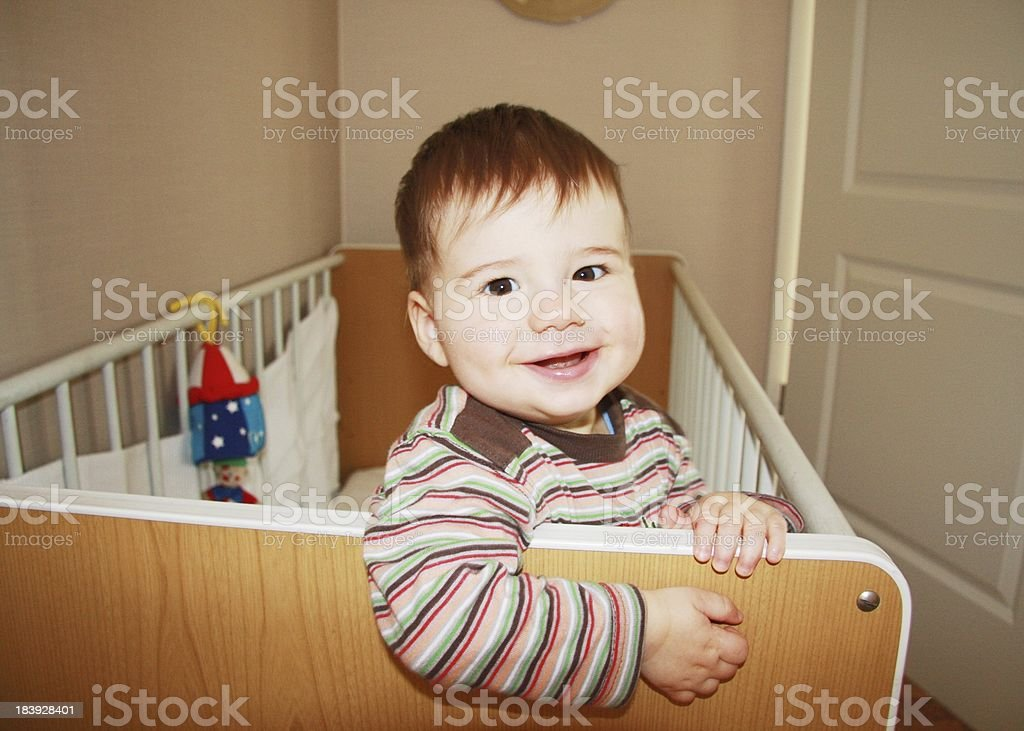 baby boy smile stock photo