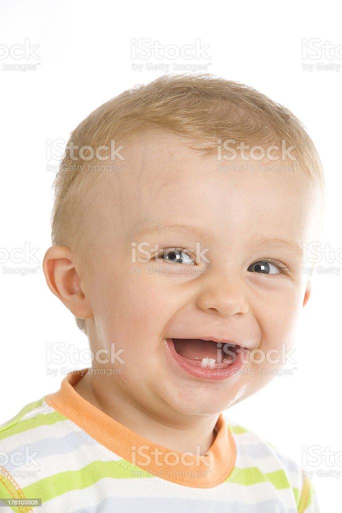 baby boy smiling stock photo
