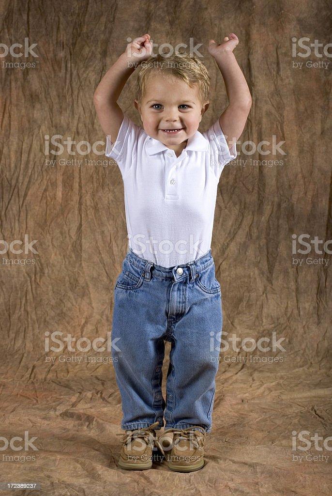 Baby Boy Stretching royalty-free stock photo